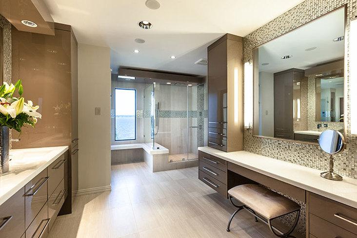 K bb design award winners kitchen bath business for Small bathroom goals