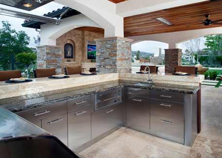 Outdoor living professional design kitchen bath business for Eldorado stone outdoor kitchen cabinet