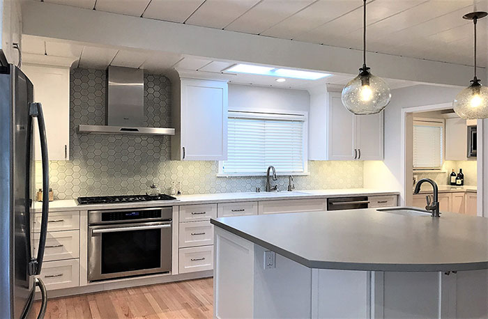 A New Build Kitchen And Bath Are Designed With A Modern But Warm Look