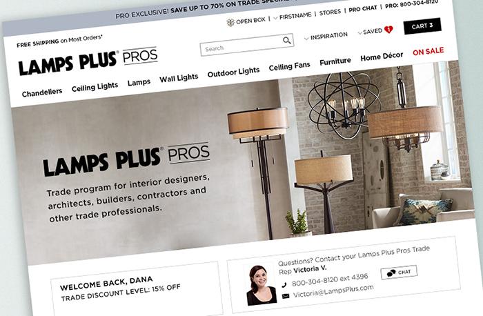 Lamps Plus Rebrands Professional Trade Division to Lamps Plus Pros